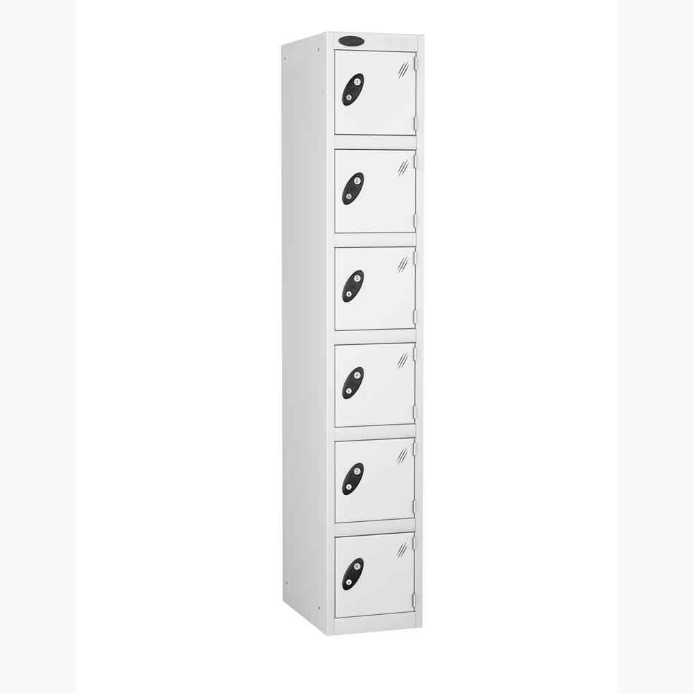 Probe White Six Door Metal Locker