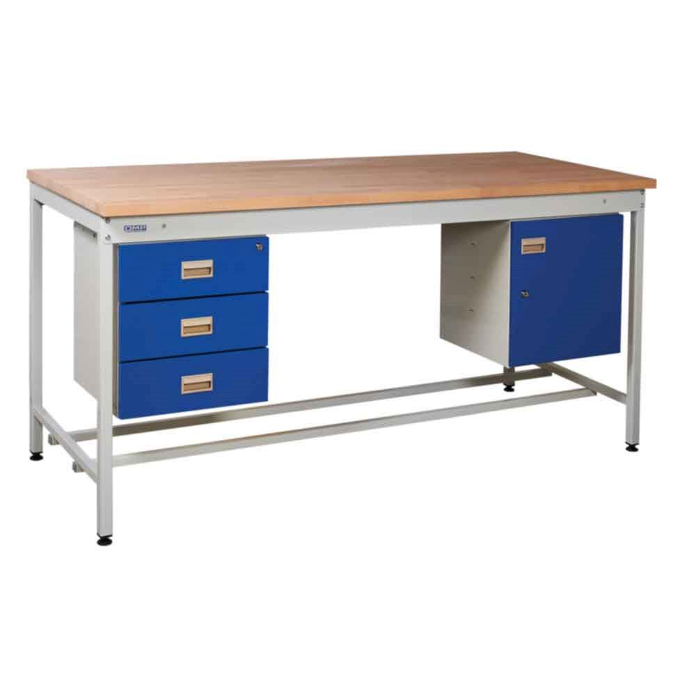 Budget Square Tube Work Bench Type C Beech- 250Kgs