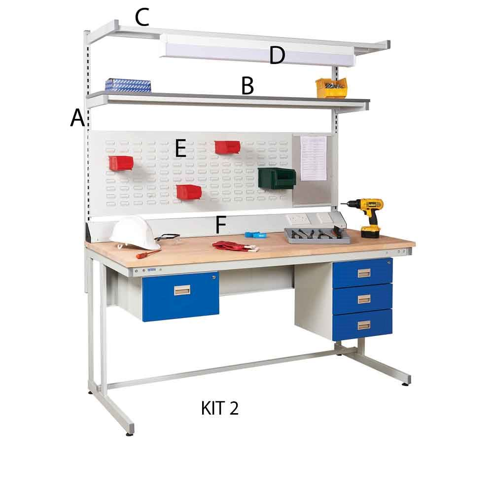 Cantilever Workbench Kit 2 with 2 drawers