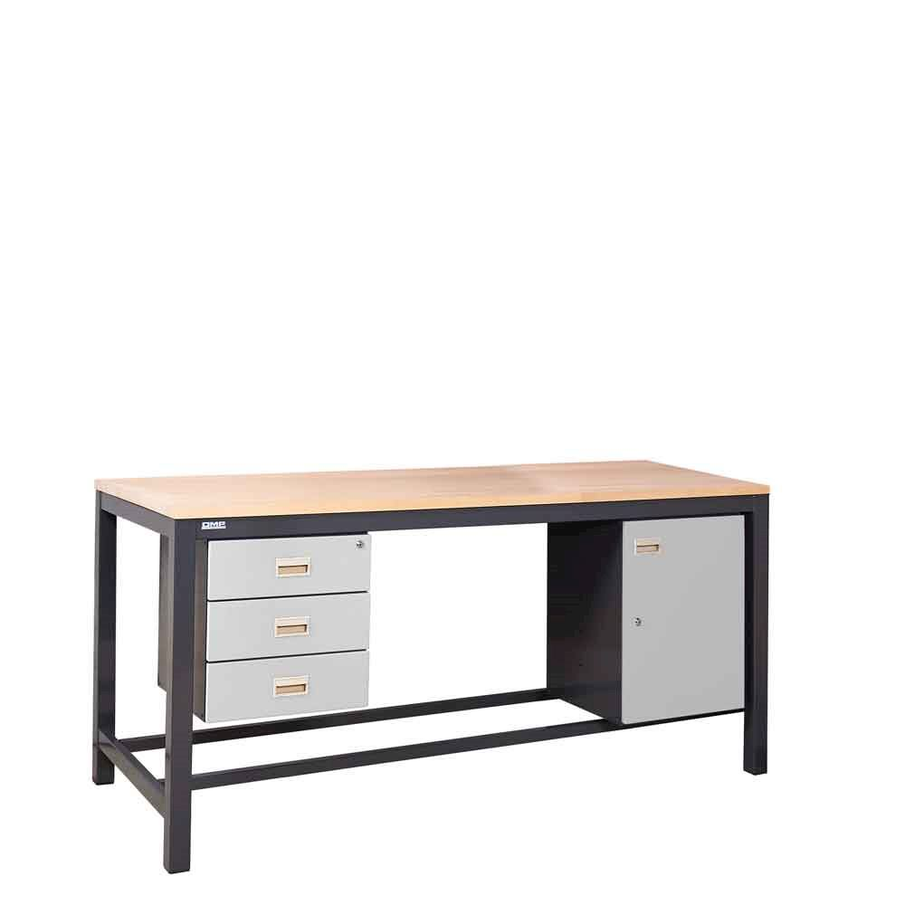 Heavy Duty Workbench with undercounter 3 drawer and cupboard units
