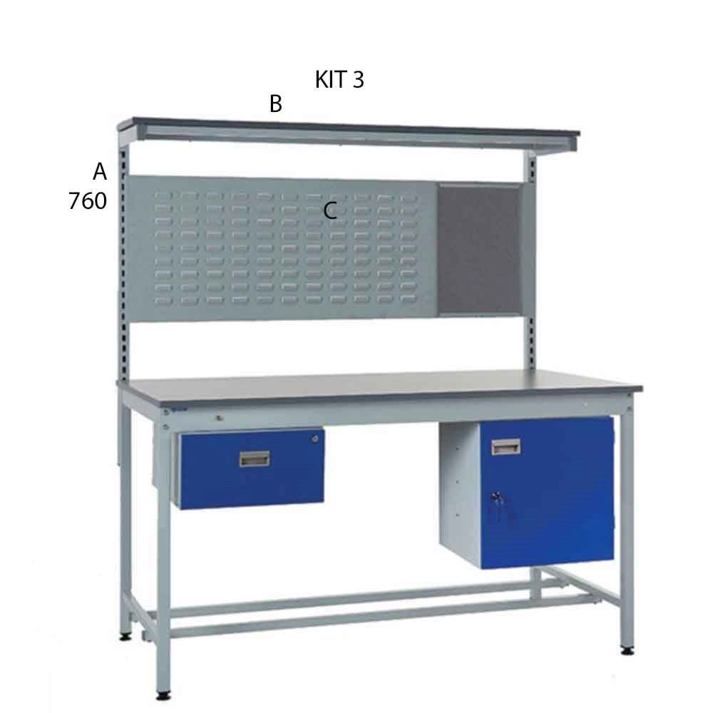 Industrial Workbench Kit 3 -1600mm High