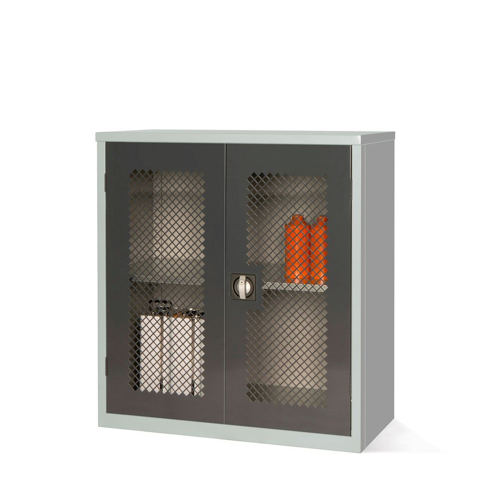 Mesh Fronted Stock Control Cupboard 1000H  x 915W x 460D