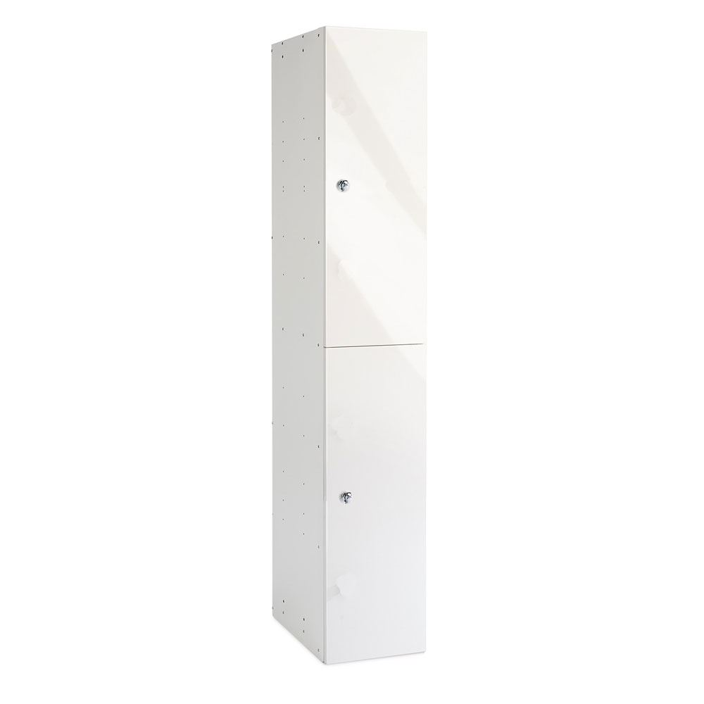 White Gloss Two Door Office Locker 1800H