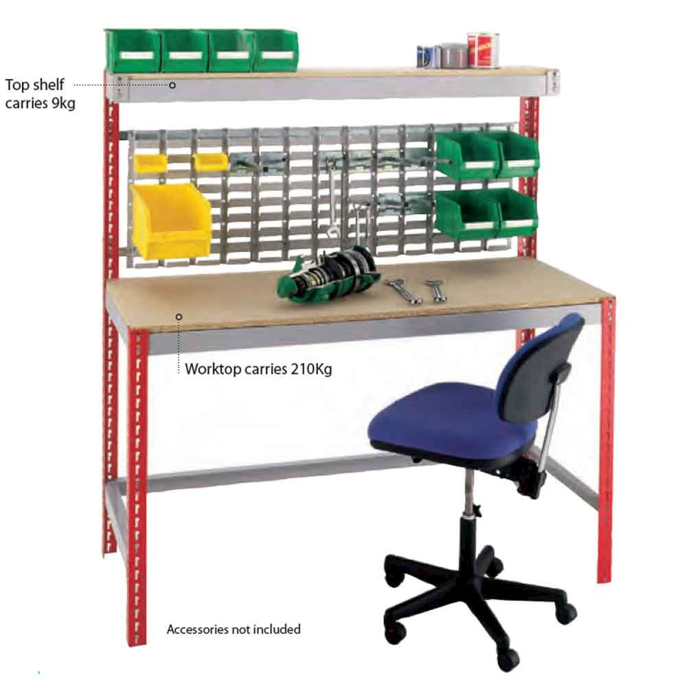 Budget Workstation workbench with Louvre Panel