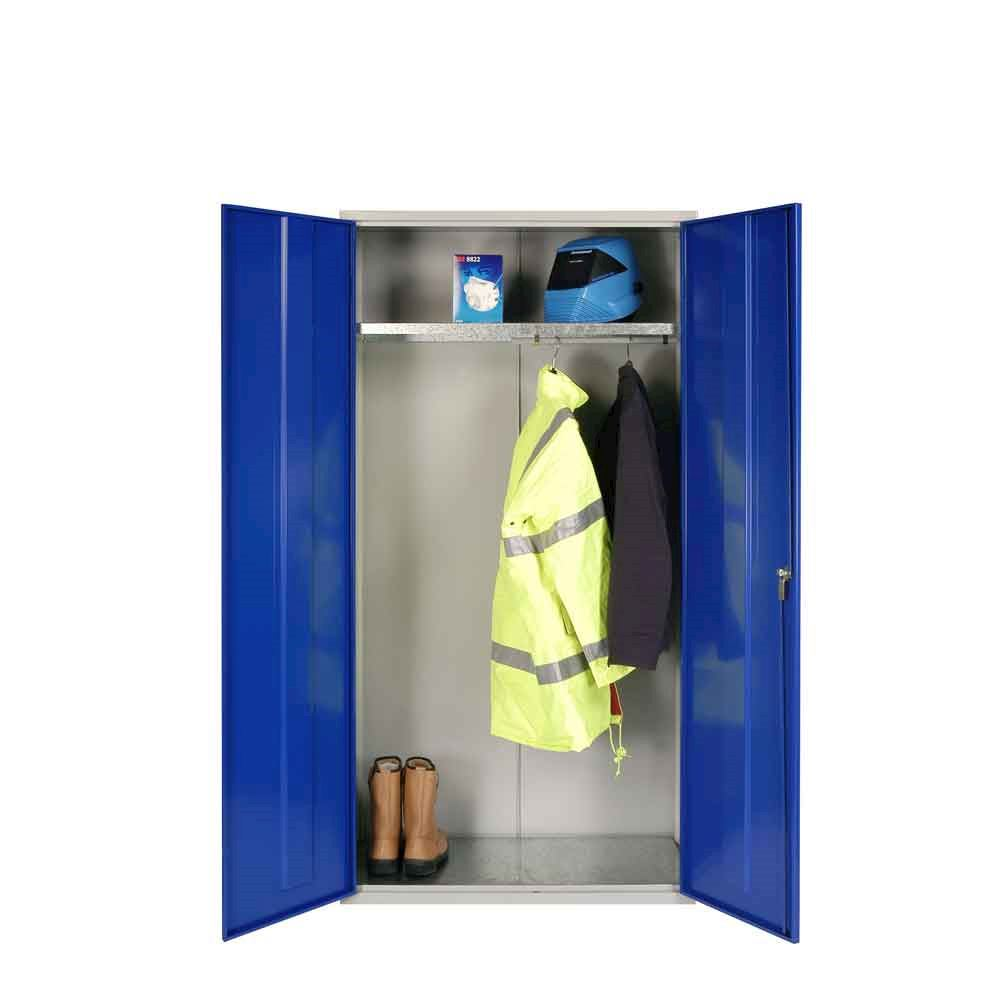 PPE Wardrobe Cupboard 1830H with shelf and hanging rail