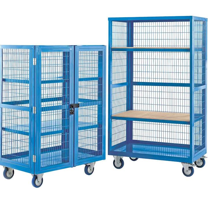 Boxwell Mobile Trolley With Doors by QMP
