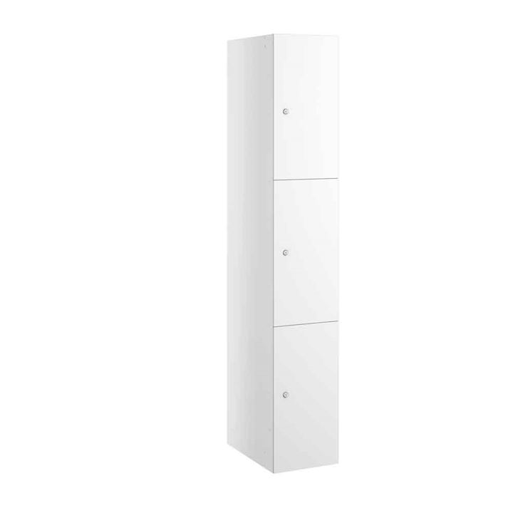 White MDF Buzzbox Three door Locker
