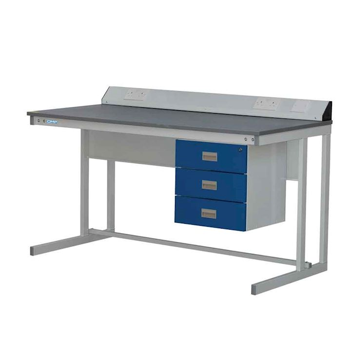 Basic Cantilever Workbench Type A with 3 drawers