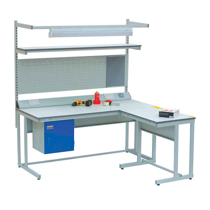 Cantilever Workbench Kit with extension and cupboard