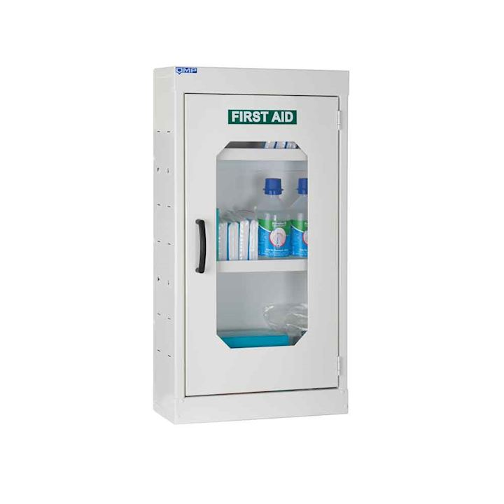 First Aid Cabinet with Perspex Door  710H x 380W x 160D