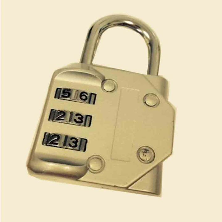 40mm Combination Padlock 3 Scroll