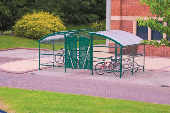 Cycle Compound Shelter With Gate