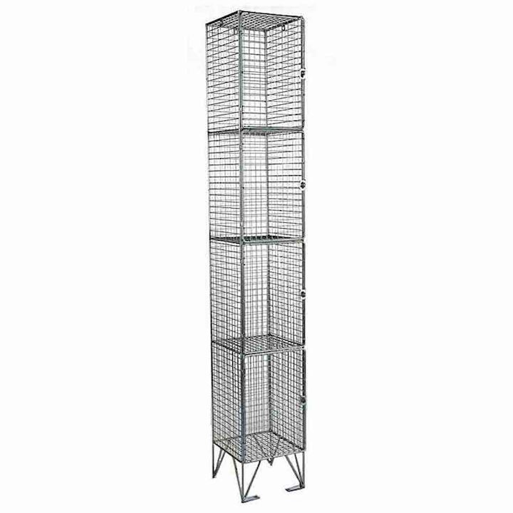 Wire Mesh Four Door Locker