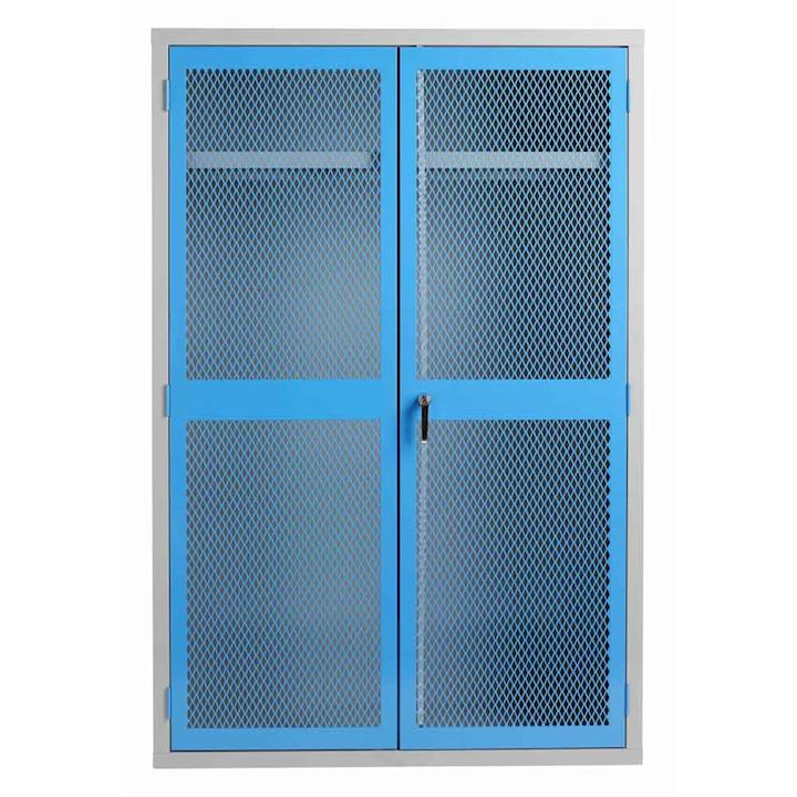 PPE Cabinet with Mesh Door & Full Width Rail 1830H x 1220W x 459D