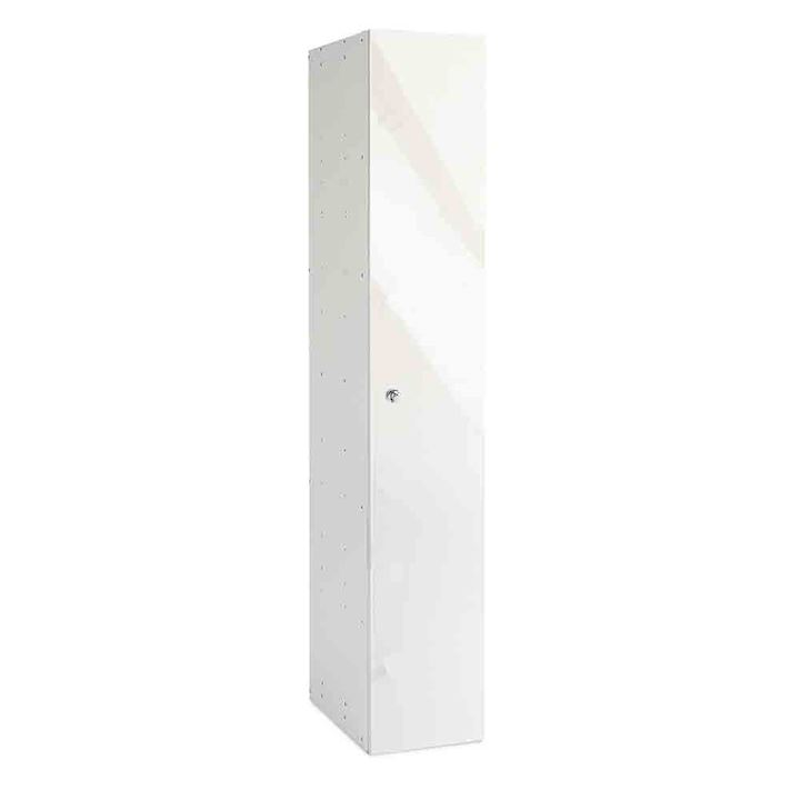 White Gloss Single Door Office Locker 1800H