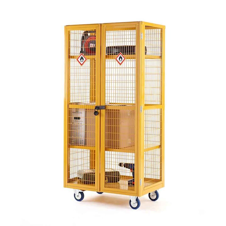 Hazardous Boxwell Mobile Trolley With Doors by QMP