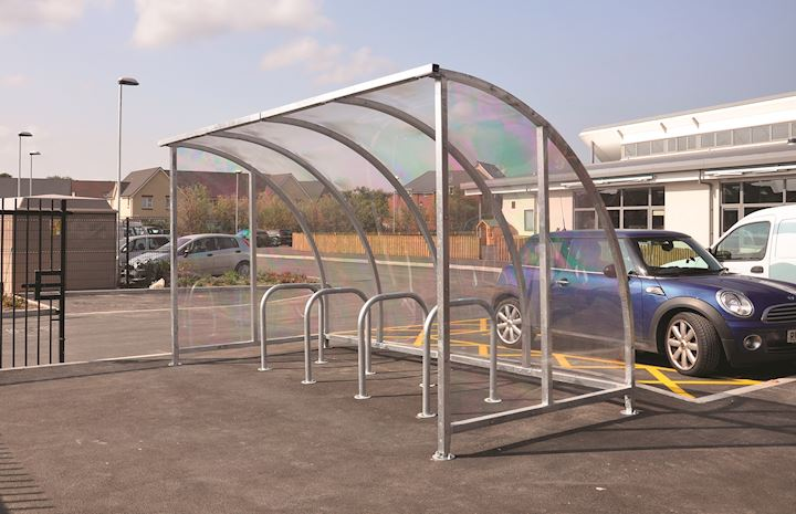 Kenilworth Cycle Shelter - Coloured