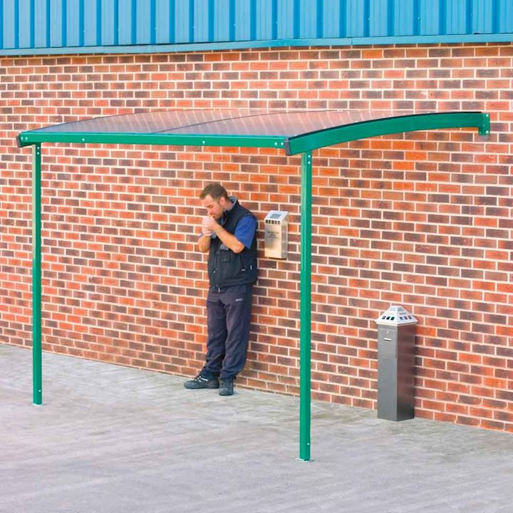 Large Wall Mounted Smoking Shelter by QMP