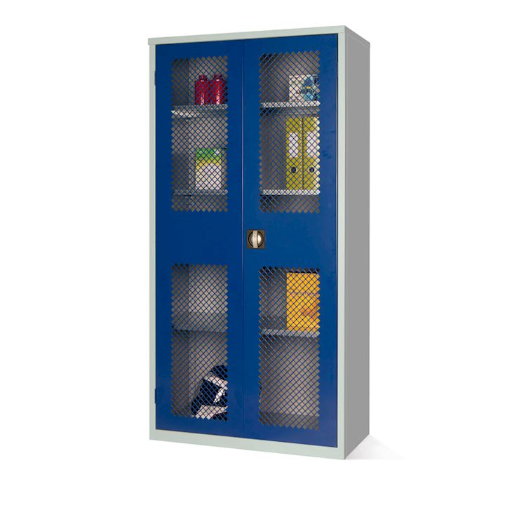 Mesh Fronted Stock Control Cupboard 1830H by Elite