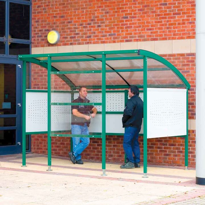 Smoking Shelter Premier with perspex or perforated steel sides 2320H