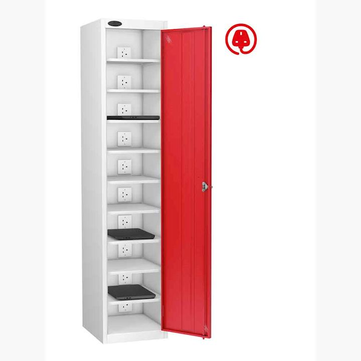 Single Door 10 Shelf Charging Laptop Locker by Probe