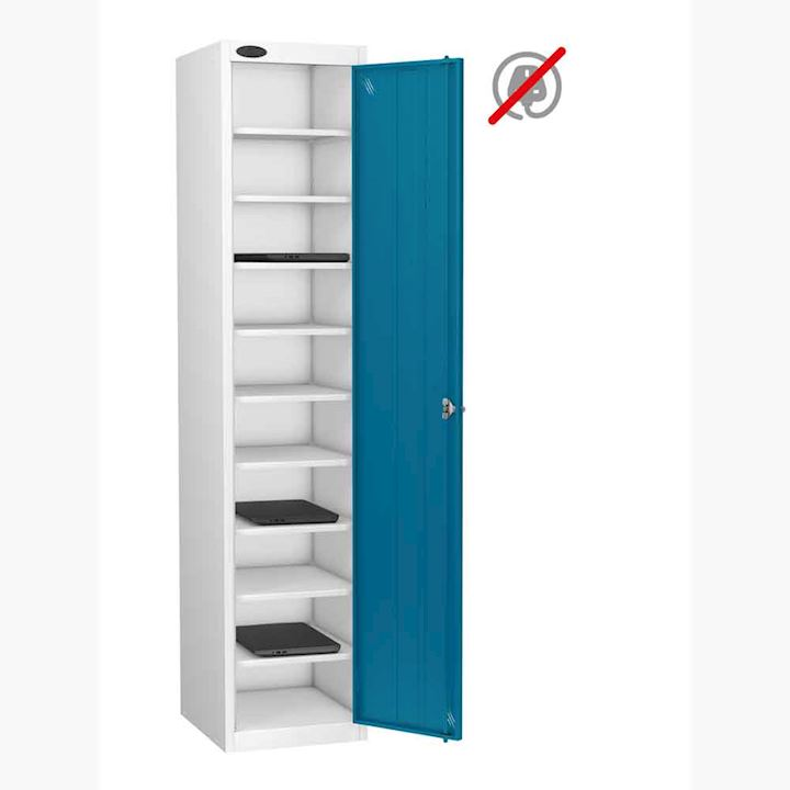 Single Door, 10 Shelf Laptop Storage Locker by Probe