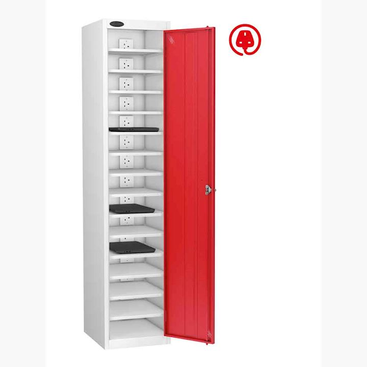 Single Door 15 Shelf Charging Laptop Locker by Probe
