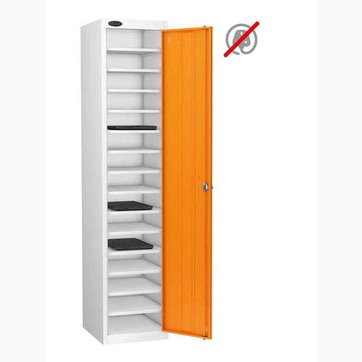 Single Door 15 Shelf Laptop Storage Locker by Probe