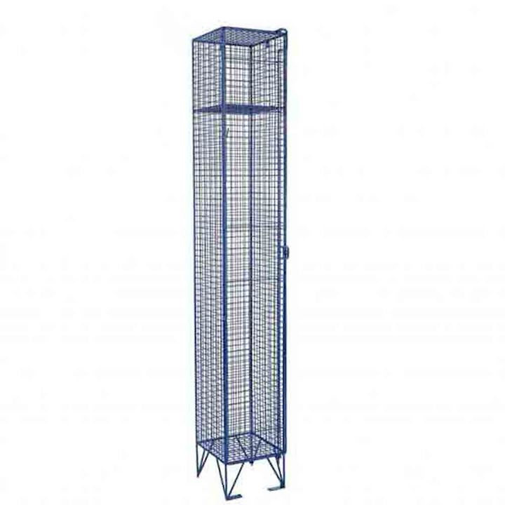 Single Door Mesh Locker with integral legs