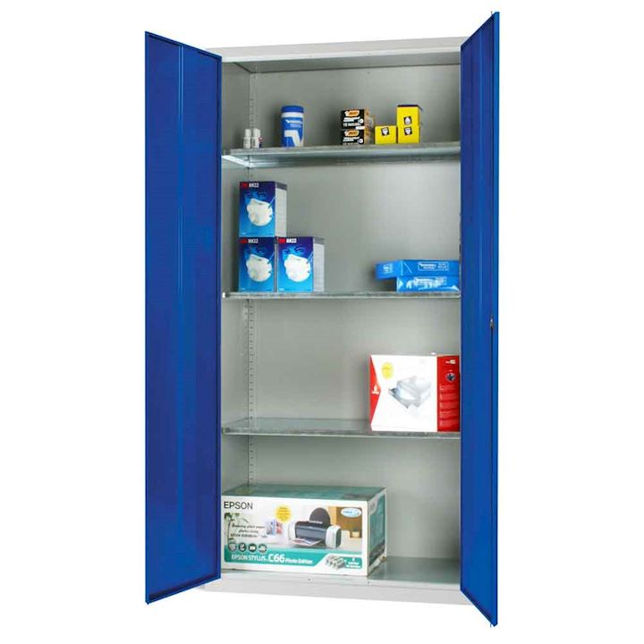 Standard Metal Cupboard with 3 shelves by Elite