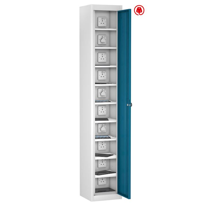 Tablet Locker Single Door, 10 Shelf 1780H