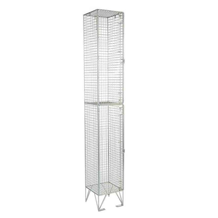 2 Door Wire Mesh Locker 1983mm high