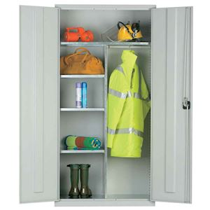 Clothing & Equipment Cupboard 60kg UDL with hanging rail by Elite