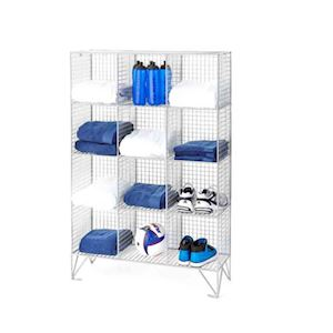 12 Compartment Wire Mesh Locker - With & Without Doors